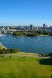 Centro de la ciudad de la hermosa vista de Vancouver Fotos de archivo