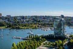 Centro de la ciudad de la hermosa vista de Vancouver Imagenes de archivo