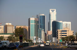 Centro de la ciudad de Manama, Bahrein Imagenes de archivo
