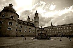 Centro de la ciudad de Salzburg Fotografía de archivo libre de regalías