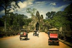 Centro de la ciudad de Siem Reap, Camboya Fotos de archivo