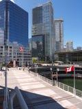 Centro de la ciudad de Vancouver y centro de convención foto de archivo libre de regalías