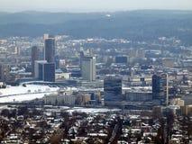 Centro de la ciudad de Vilnius Foto de archivo