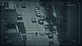 Centro de la ciudad del camino del CCTV desde arriba libre illustration