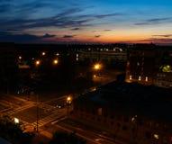 Centro de la ciudad desde arriba Fotos de archivo libres de regalías
