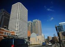 Centro de la ciudad en Boston, mA imagenes de archivo