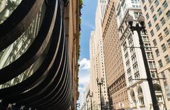 Centro de la ciudad en Chicago imagenes de archivo