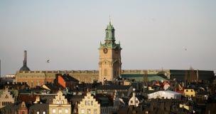 Centro de la ciudad en Estocolmo fotos de archivo libres de regalías