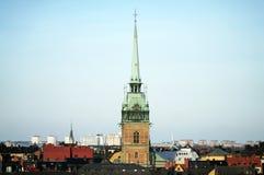 Centro de la ciudad en Estocolmo foto de archivo libre de regalías