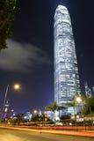 Centro de la ciudad en la noche, Hong Kong foto de archivo