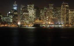 Centro de la ciudad en la oscuridad, San Francisco Imagen de archivo libre de regalías