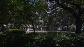 Centro de la ciudad de la sabana, Georgia, los E.E.U.U. almacen de metraje de vídeo
