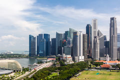 Centro de la ciudad y horizonte de Singapur fotos de archivo libres de regalías