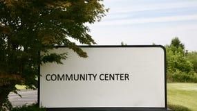 Centro de la comunidad fotos de archivo libres de regalías