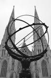 Centro de la estatua NYC Rockefeller del atlas imágenes de archivo libres de regalías