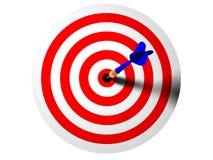 Centro de la flecha stock de ilustración