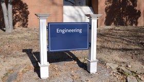 Centro de la ingeniería en una universidad foto de archivo