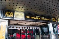 Centro de la película de Philadelphia, sabido para el lugar del funcionamiento de la escuela vieja que recibe investigaciones clá fotos de archivo