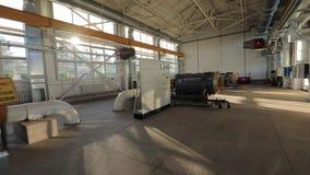 Centro de la refinería en Siberia del oeste Vídeo del steadikam con todos los detalles Transporte del aceite almacen de video