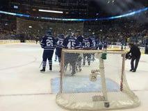 Centro de la versión 2-Air Canadá Celebración del juego de los posts de los Toronto Maple Leafs Imagen de archivo libre de regalías