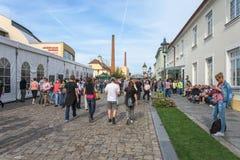 Centro de la zona comercial de la ciudad vieja Fotos de archivo