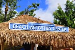 Centro de las actividades de la playa Fotos de archivo