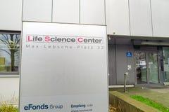 Centro de las ciencias de la vida Fotos de archivo libres de regalías