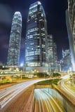 Centro de las finanzas de Hong-Kong Imágenes de archivo libres de regalías