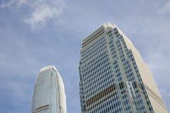Centro de las finanzas internacionales en Hong Kong Fotografía de archivo