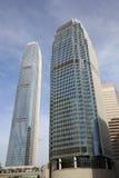 Centro de las finanzas internacionales en Hong Kong Fotografía de archivo libre de regalías