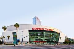 Centro de las grapas en la salida del sol en Los Ángeles Fotografía de archivo libre de regalías