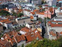 Centro de Ljubljana foto de stock royalty free