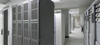 Centro de los servidores fotografía de archivo