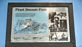 Centro de los visitantes de campo de New York City floyd bennett de la partida Fotografía de archivo