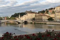 Centro de Lyon Fotos de archivo libres de regalías