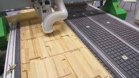 Centro de mecanización moderno del CNC para moler productos de madera almacen de video