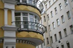 Centro de Moscú, balcón Imágenes de archivo libres de regalías