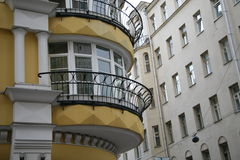 Centro de Moscovo, balcão imagens de stock royalty free
