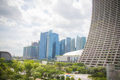 Centro de negócio de Singapura Imagens de Stock Royalty Free