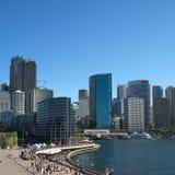 Centro de negócio de Sydney fotografia de stock royalty free