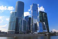 Centro de negócio em Moscovo, Rússia foto de stock