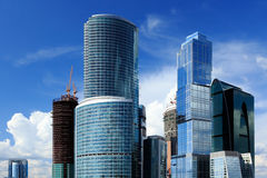 Centro de negócios da cidade de Moscou Imagens de Stock Royalty Free