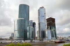 Centro de negócios de Moscovo sob a construção Imagem de Stock