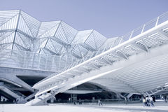Centro de negócios do edifício moderno da arquitetura foto de stock