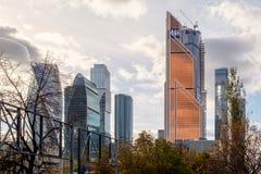 Centro de negócios do International de Moscovo Imagens de Stock
