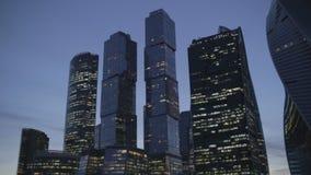 Centro de negócios em Moscou na noite filme