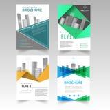 Centro de negócios moderno de conceptualização do molde do folheto, vetor Fotografia de Stock Royalty Free