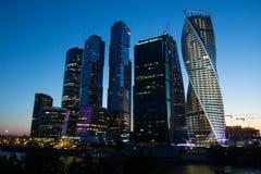Centro de negócios Moscou-Sity de Moscou imagem de stock