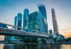 Centro de neg?cios internacional de Moscou em Moscou, R?ssia imagens de stock