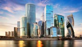 Centro de neg?cios internacional de Moscou, R?ssia fotografia de stock